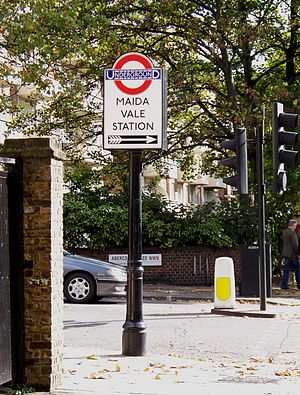 Maida Vale tube station - Image: Maida Vale station sign