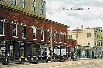 Madison, Maine - Image: Main Street, Madison, ME