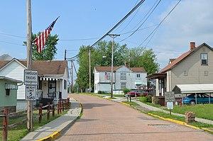 Rayland, Ohio - Northern end of Main Street
