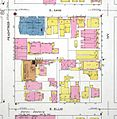 Majestic Hotel, location in block, 1911 Sanborn fire map.jpg