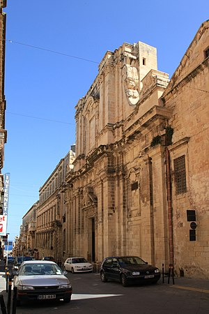 1634 Valletta explosion - The Jesuit church, which was severely damaged in the explosion