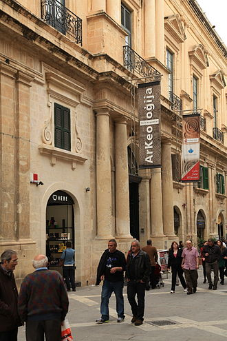 National Museum of Archaeology, Malta - National Museum of Archaeology at Auberge de Provence