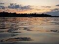 Manhasset Bay Moored Boat at Sunset 1.jpg