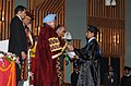 Manmohan Singh presenting the certificate & gold medal to one of the awardees during the 5th Convocation of the Sher-e-Kashmir University of Agriculture Sciences and Technology of Kashmir, in Srinagar, Jammu & Kashmir (2).jpg