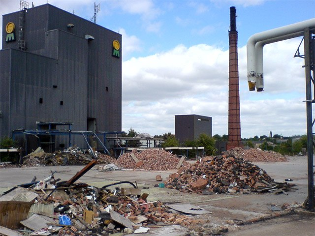 Mansfield Brewery demolition - geograph.org.uk - 535943