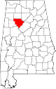 Map of Alabama highlighting Walker County.svg