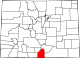 Map of Colorado highlighting Costilla County.svg