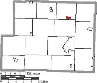 Jewett, Ohio - Image: Map of Harrison County Ohio Highlighting Jewett Village