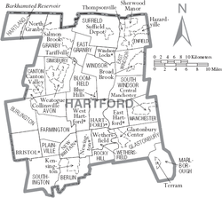 List of Hartford County towns and villages - Wikipedia