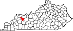 State map highlighting McLean County