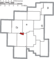Map of Noble County Ohio Highlighting Caldwell Village.png