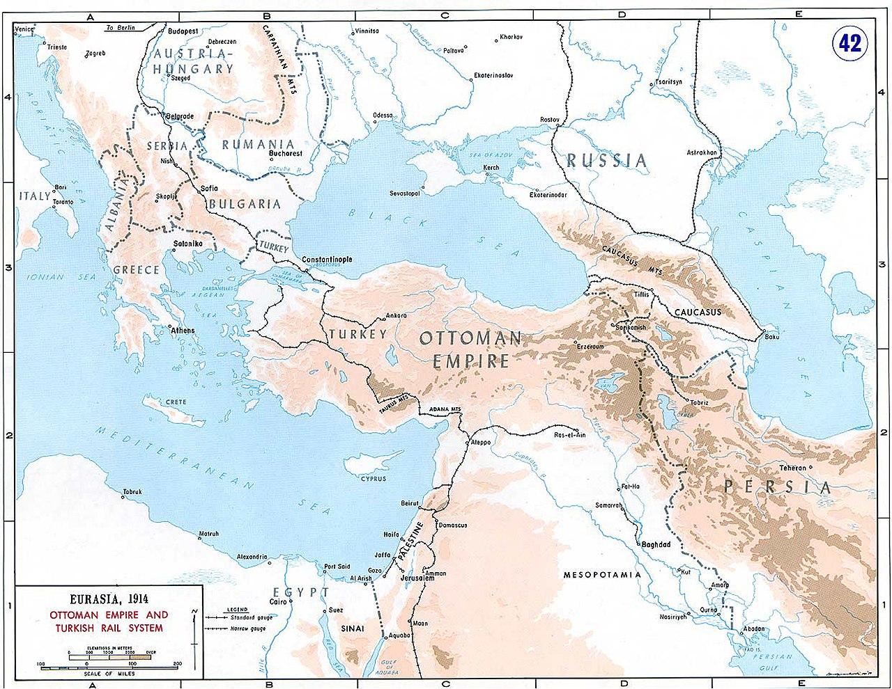 FileMap Of Ottoman Rail Network In World War Ijpg Wikimedia - Map of us rail network