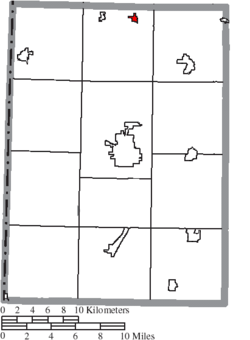 Location of West Manchester in Preble County