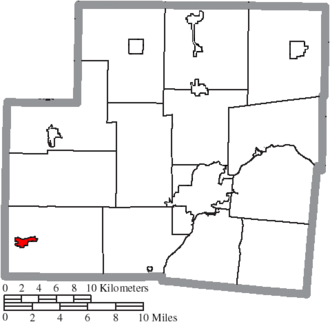 Russia, Ohio - Image: Map of Shelby County Ohio Highlighting Russia Village