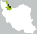 Map of Talysh-inhabited provinces of Iran, according to a poll in 2011.png