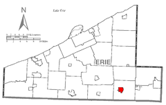 Map of Union City, Erie County, Pennsylvania Highlighted.png