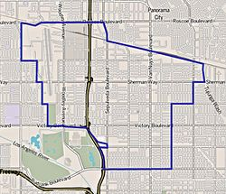Studio City Zip Code Map.Van Nuys Wikipedia