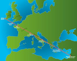 "Ley line - The so-called ""St. Michael's line"""
