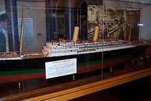 La maquette de l'Empress of Ireland.