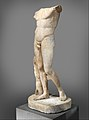 Marble statue of the Diadoumenos (youth tying a fillet around his head) MET DP327370.jpg