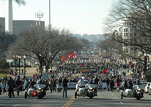 March for Life crowd shot of the beginning of ...
