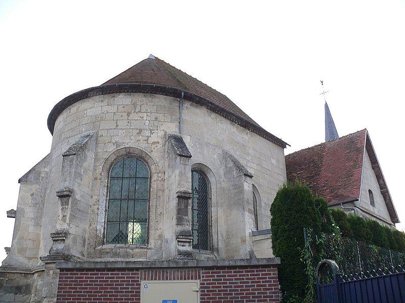 Saint-Vaast's church of Marest-sur-Matz (Oise, Picardie, France).