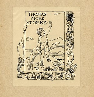 Margaret Ely Webb - A bookplate by Webb for her stepbrother, Thomas Storke.