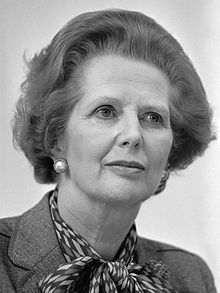headshot of Margaret Thatcher