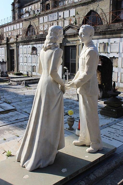 Monumento funebre di Maria Grazia Colella e Mario Mazzone, Cimitero delle Porte Sante, San Miniato al Monte