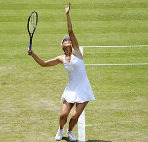 300px Maria Sharapova at the 2009 Wimbledon Championships 12