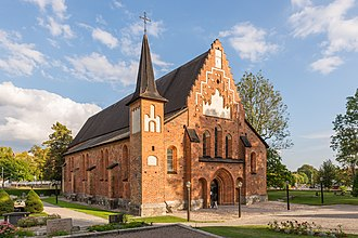 Sigtuna - St. Mary's Church (Mariakyrkan) is a fine example of Brick Gothic architecture in Sweden