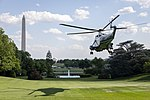 Marine One Departs the South Lawn (47812774362).jpg