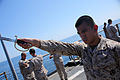 Marines conduct sword manual aboard USS Fort McHenry 150228-M-AR522-025.jpg