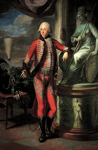 Nikolaus II, Prince Esterházy - Nikolaus II as portrayed by Martin Knoller in 1793. Oil on canvas. Esterházy Privatstiftung, Burgenland.