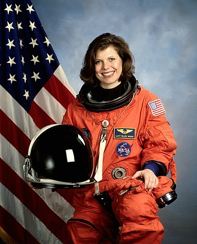 Astronaut Mary Ellen Weber, mission specialist, NASA photo Source: Wikipedia (spaceflight.nasa.gov killed 25 Feb 2021) 388px-Mary_Ellen_Weber.jpg