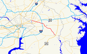 Maryland Route 202 - Image: Maryland Route 202 map