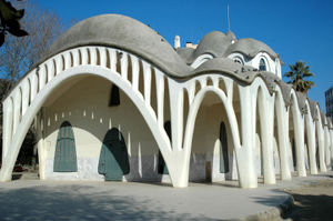 Terrassa - The Masia Freixa of Terrassa, sea of parabolic arches