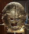 Mask, Democratic Republic of Congo, Kivu region, Lega people, African elephant hide, domestic chicken feathers, raffia, trace pigments - De Young Museum - DSC01094.JPG