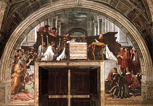 Raphael Rooms - Raphael, The Mass at Bolsena, 1512