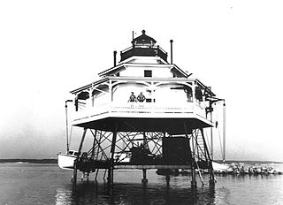 Mathias Point Light lighthouse in Maryland, United States