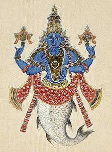 Matsya fish form of the Hindu god Vishnu