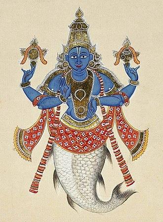 Shraddhadeva Manu - Matsya, the avatara of Vishnu.