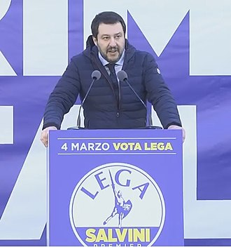 2018 Italian general election - Salvini speaks at the final rally of his electoral campaign in Milan