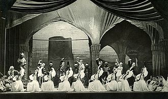 Maiden Tower (ballet) - A scene from the first staging of the ballet, 1940.