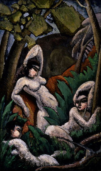 Max Weber (artist) - Summer, 1909, oil on canvas, 40 1/4 x 23 7/8 in. (102.2 x 60.6 cm), Smithsonian American Art Museum