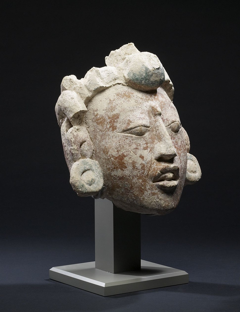 Mayan - Stucco Portrait Head - Walters 20092026 - Three Quarter Right