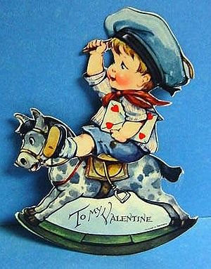 Scan of a Valentine greeting card circa 1920.