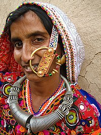 Megwhal woman with nosering