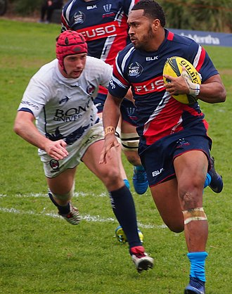 Melbourne Rising - Sefa Naivalu playing for the Rising in 2016.