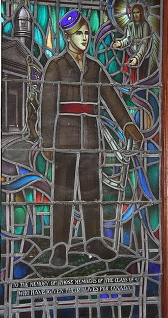 Officer cadet - Memorial stained glass window, class of 1942, Royal Military College of Canada